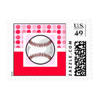 Cute Softball Postage Stamps