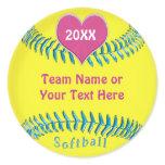 Cute Softball Stickers for Girls Softball Team