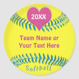 Cute Softball Stickers for Girls Softball Team