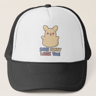 Cute Some Bunny Loves You Easter Trucker Hat