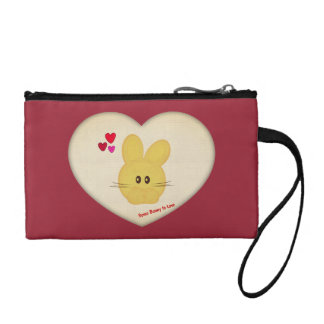 Cute Some Bunny to Love Heart Motif Change Purse
