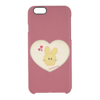 Cute Some Bunny to Love Heart Motif Clear iPhone 6/6S Case