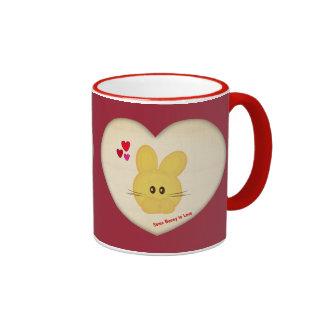 Cute Some Bunny to Love Heart Motif Ringer Mug
