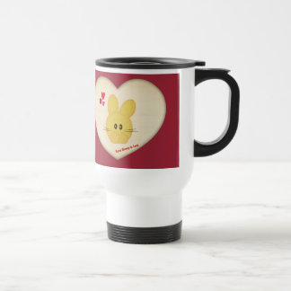 Cute Some Bunny to Love Heart Motif Travel Mug