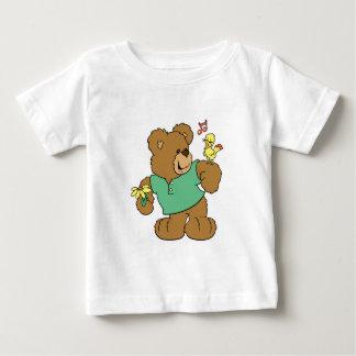 Cute Songbird and Teddy Bear Baby T-Shirt