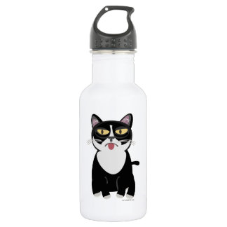 Cute Sourpuss Cartoon Cat Water Bottle