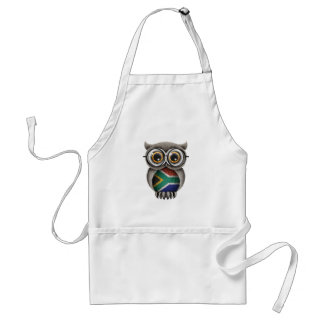 Cute South African Flag Owl Wearing Glasses Aprons