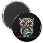 Cute South African Flag Owl Wearing Glasses Magnets