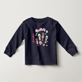 Cute Spa Beauty Treatment Party. Hair Stylist Toddler T-shirt
