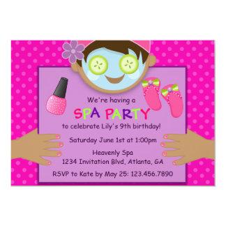 Cute Spa Birthday Party Personalized Invitation