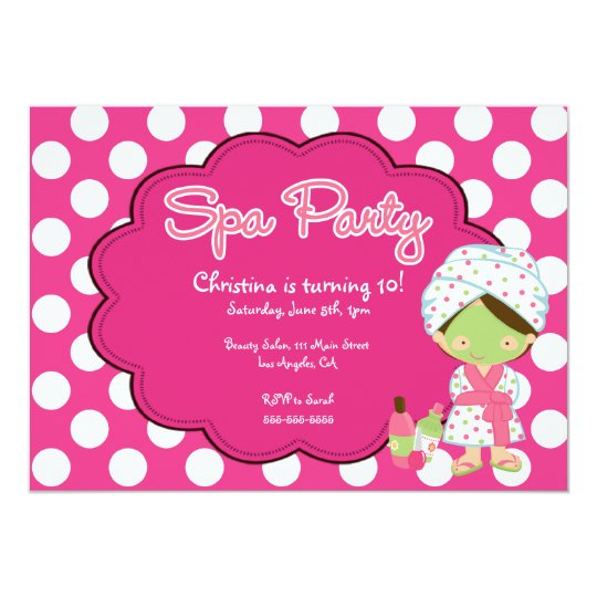 Cute Spa Day Birthday Party Invitation | Zazzle.com