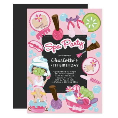 Custom spa manicure pedicure party invitations zazzle filmwisefo