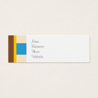 Cute Space Ship Rocket Outer Space Blue Kids Mini Business Card