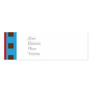 Cute Space Ship Rocket Outer Space Red Blue Business Cards
