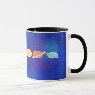 Cute space themed mug