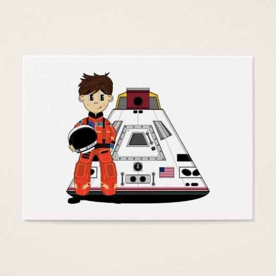 Cute Spaceman Bookmark Business Card