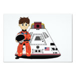 Cute Spaceman RSVP Card Invitations