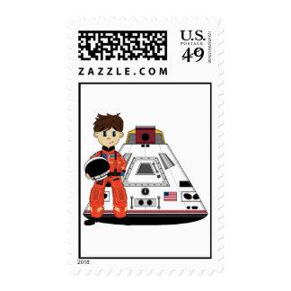 Cute Spaceman Stamp
