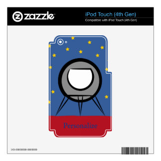 Cute Spaceship iPod Touch (4th Gen) Skin Decals For iPod Touch 4G