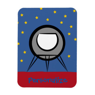 Cute Spaceship Magnet