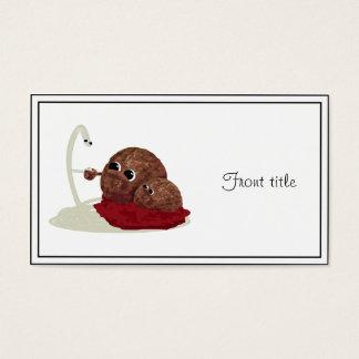 Cute Spaghetti Meeting Meatballs Business Card