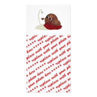 Cute Spaghetti Meeting Meatballs Photo Greeting Card