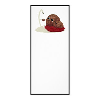 Cute Spaghetti Meeting Meatballs Rack Card
