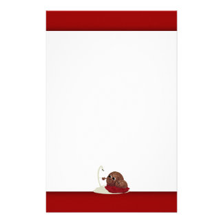 Cute Spaghetti Meeting Meatballs Stationery