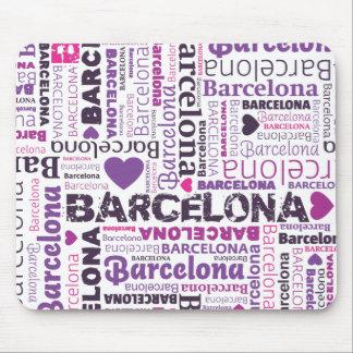 Cute spain barcelona souvernir mousepad