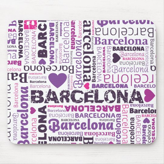 Cute spain barcelona souvernir mousepad