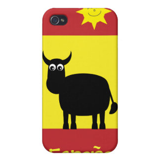 Cute Spanish Bull, Sun & Flag iPhone 4 Cover