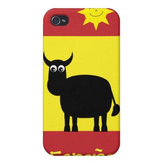 Cute Spanish Bull Sun Flag iPhone 4 Cases