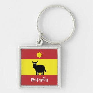 Cute Spanish Bull, Sun & Flag Keychains