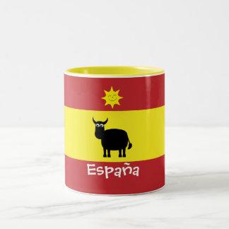 Cute Spanish Bull, Sun & Flag Mugs