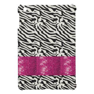 Cute SPARKLE Pink Zebra Striped Gifts iPad Mini Case