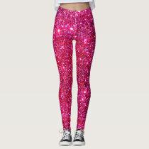Cute Sparkly Pink Leggings Fashion Trendy Fun