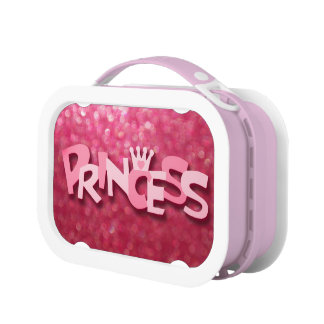 Cute Sparkly Pink Princess Bokeh Lunch Box