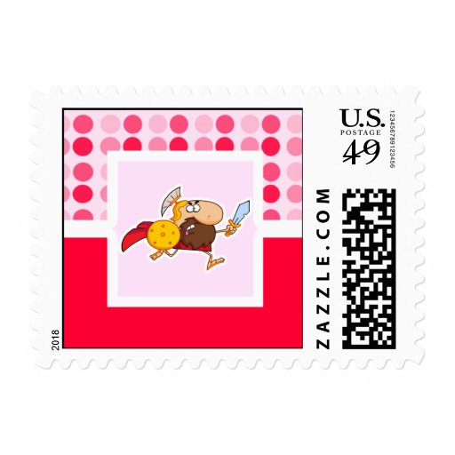 Cute Spartan Gladiator Postage Stamps