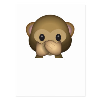 Cute Speak No Evil Monkey Emoji Postcard