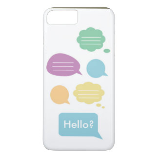 Cute speech bubble iPhone 7 plus case