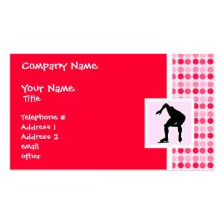 Cute Speed Skater Business Card