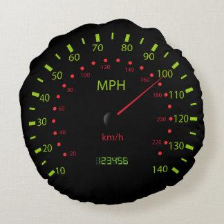 Cute speedometer Round Pillow