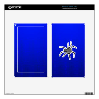 Cute Spider; Blue Kindle Fire Decals