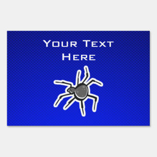 Cute Spider; Blue Sign