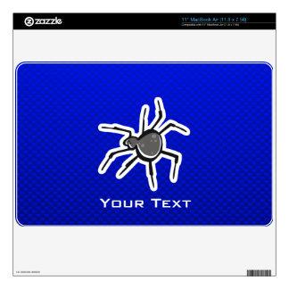 "Cute Spider; Blue Skins For 11"" MacBook Air"