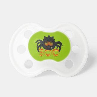 Cute Spider & Boo Fire Font Halloween Pacifier BooginHead Pacifier