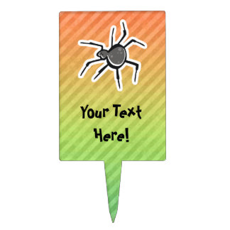 Cute Spider Design Cake Toppers