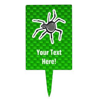 Cute Spider; Green Cake Topper