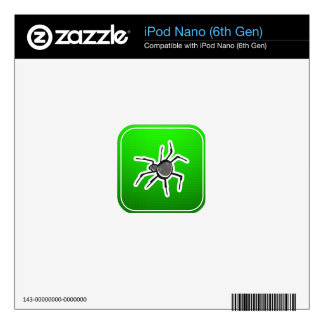 Cute Spider; Green Decal For The iPod Nano