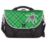 Cute Spider; Green Laptop Commuter Bag